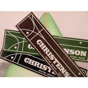 あすつく サーフィン ステッカー CHRISTENSON クリステンソン/クリステンソン ステッカー 大|surfer
