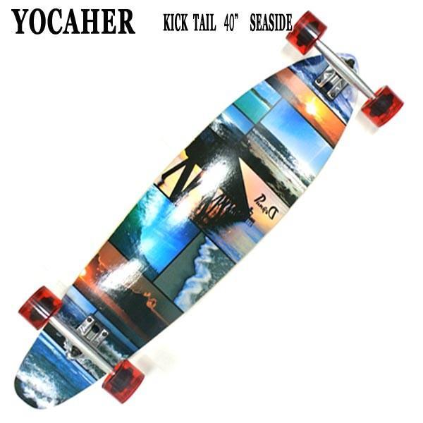 値下げしました!YOCAHER スケートボード/スケボー KICK TAIL 40 SEA SIDE サーフスケート ロンスケ ロングボード SKATEBOARD 送料無料 スケボー 完成品 SK8|surfingworld