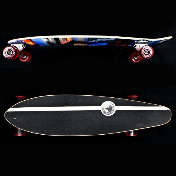 値下げしました!YOCAHER スケートボード/スケボー KICK TAIL 40 SEA SIDE サーフスケート ロンスケ ロングボード SKATEBOARD 送料無料 スケボー 完成品 SK8|surfingworld|02