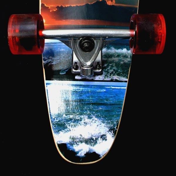 値下げしました!YOCAHER スケートボード/スケボー KICK TAIL 40 SEA SIDE サーフスケート ロンスケ ロングボード SKATEBOARD 送料無料 スケボー 完成品 SK8|surfingworld|05