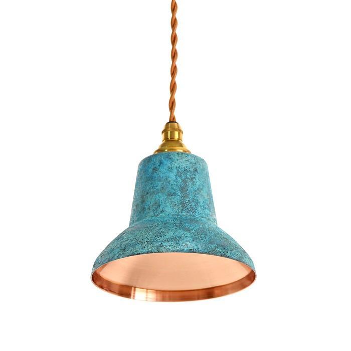 銅板シェードのペンダントライト tone spot spot spot 青 モメンタムファクトリーOrii 224