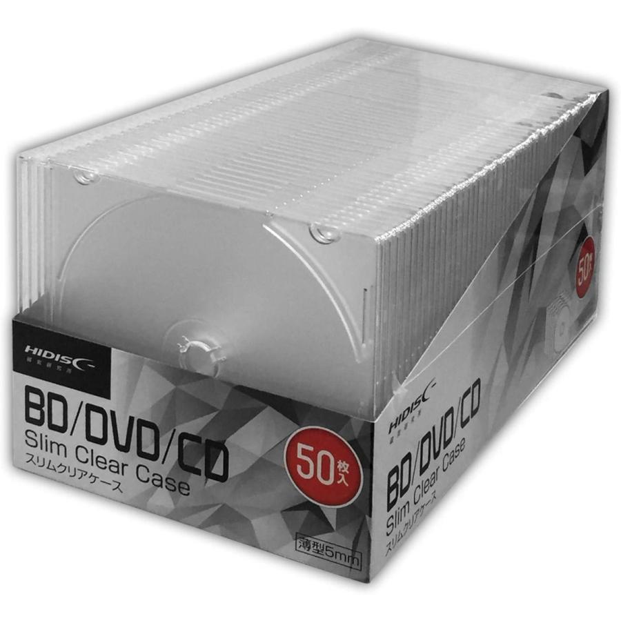 HIDISK CD ギフ_包装 DVD 送料無料 激安 お買い得 キ゛フト BD 5mmスリムケース メーカー取寄 50枚 1枚収納