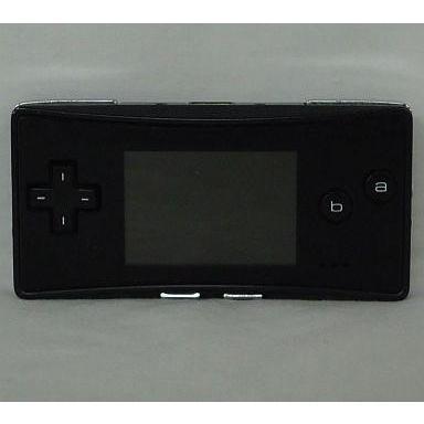 中古GBAハード ゲームボーイミクロ本体 ブラック[OXY-S-CA](本体単品/付属品無) (箱説なし)