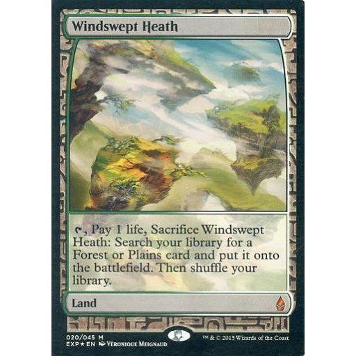 中古マジックザギャザリング [神話R] : 【FOIL】Windswept Heath/吹きさらしの荒野