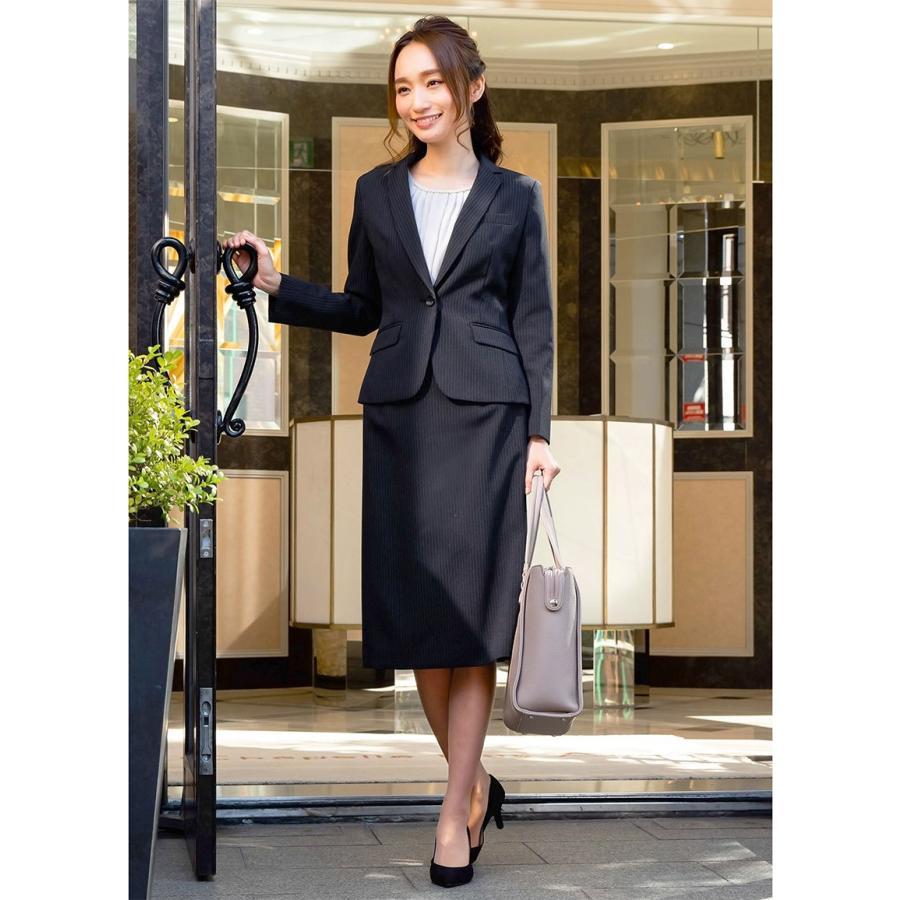 スーツ レディース スカートスーツ ビジネス テーラード タイト フレア ロング タック ストレッチ 女性 面接 就活 30代 40代 大きいサイズ 小さいサイズ 洗える sutekitaiken 19