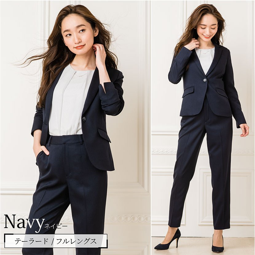 スーツ レディース パンツスーツ 洗える ストレッチ シャドーストライプ パンツ ビジネス オフィス 通勤 OL 女性 黒 紺 ネイビー 小さいサイズ 大きいサイズ sutekitaiken 12