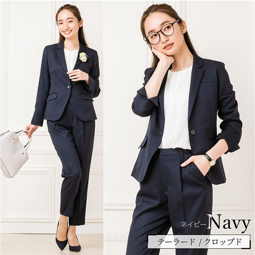 スーツ レディース パンツスーツ 洗える ストレッチ シャドーストライプ パンツ ビジネス オフィス 通勤 OL 女性 黒 紺 ネイビー 小さいサイズ 大きいサイズ sutekitaiken 13