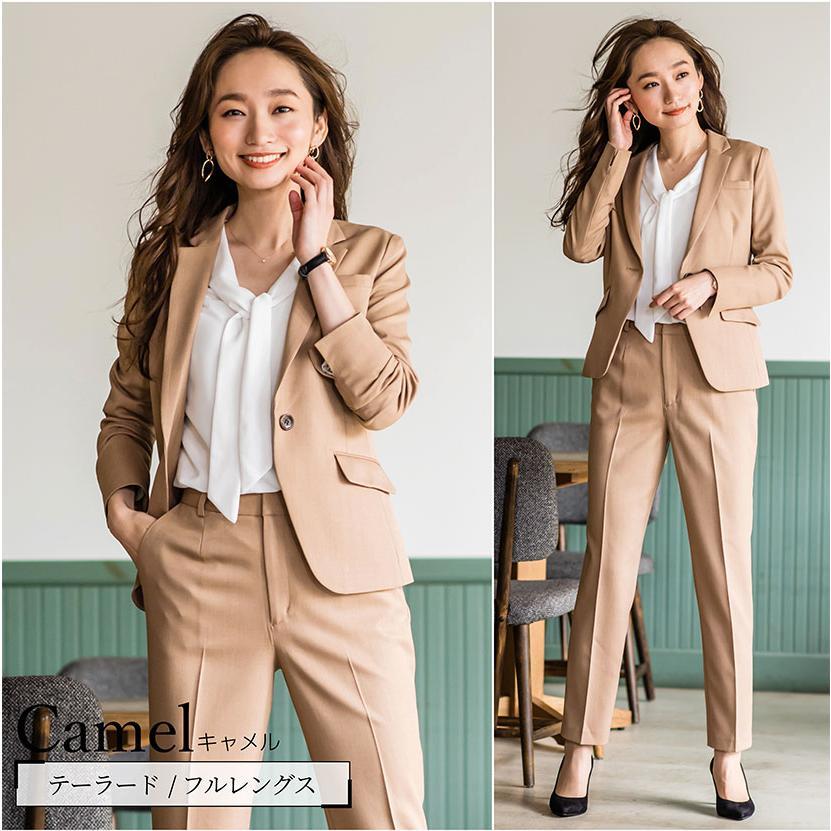 スーツ レディース パンツスーツ 洗える ストレッチ シャドーストライプ パンツ ビジネス オフィス 通勤 OL 女性 黒 紺 ネイビー 小さいサイズ 大きいサイズ sutekitaiken 17