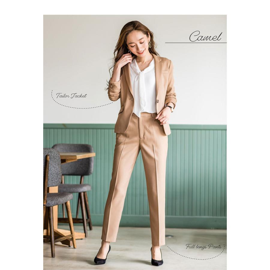 スーツ レディース パンツスーツ 洗える ストレッチ シャドーストライプ パンツ ビジネス オフィス 通勤 OL 女性 黒 紺 ネイビー 小さいサイズ 大きいサイズ sutekitaiken 18