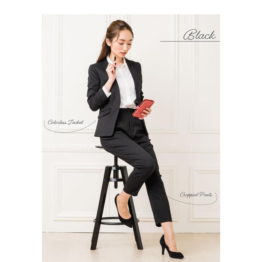 スーツ レディース パンツスーツ 洗える ストレッチ シャドーストライプ パンツ ビジネス オフィス 通勤 OL 女性 黒 紺 ネイビー 小さいサイズ 大きいサイズ sutekitaiken 19