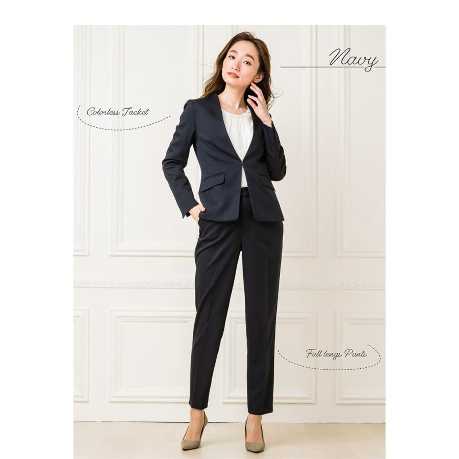 スーツ レディース パンツスーツ 洗える ストレッチ シャドーストライプ パンツ ビジネス オフィス 通勤 OL 女性 黒 紺 ネイビー 小さいサイズ 大きいサイズ sutekitaiken 20
