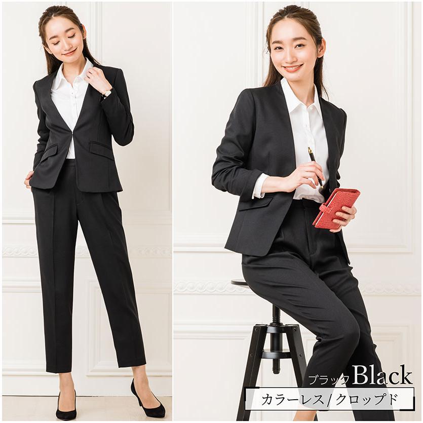 スーツ レディース パンツスーツ 洗える ストレッチ シャドーストライプ パンツ ビジネス オフィス 通勤 OL 女性 黒 紺 ネイビー 小さいサイズ 大きいサイズ sutekitaiken 10
