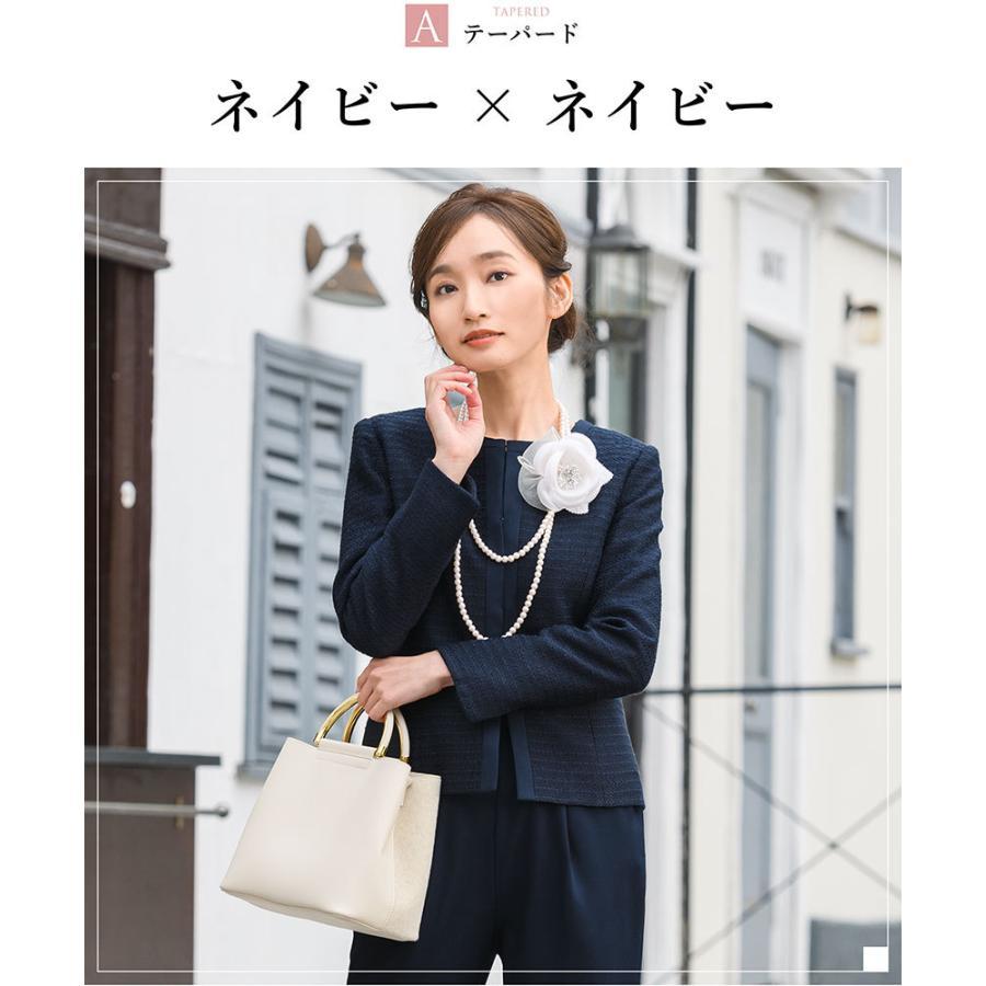 スーツ 卒業式 レディース 入学式 服装 ママ パンツスーツ 30代 40代 セレモニースーツ ワンピース 3点セット 大きいサイズ セットアップ|sutekitaiken|14