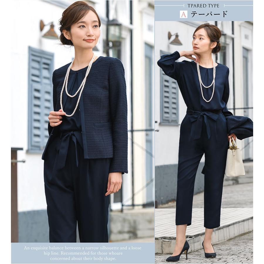 スーツ 卒業式 レディース 入学式 服装 ママ パンツスーツ 30代 40代 セレモニースーツ ワンピース 3点セット 大きいサイズ セットアップ|sutekitaiken|15