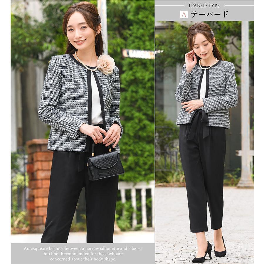 スーツ 卒業式 レディース 入学式 服装 ママ パンツスーツ 30代 40代 セレモニースーツ ワンピース 3点セット 大きいサイズ セットアップ|sutekitaiken|17