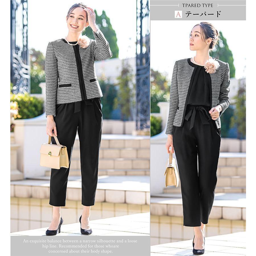スーツ 卒業式 レディース 入学式 服装 ママ パンツスーツ 30代 40代 セレモニースーツ ワンピース 3点セット 大きいサイズ セットアップ|sutekitaiken|19