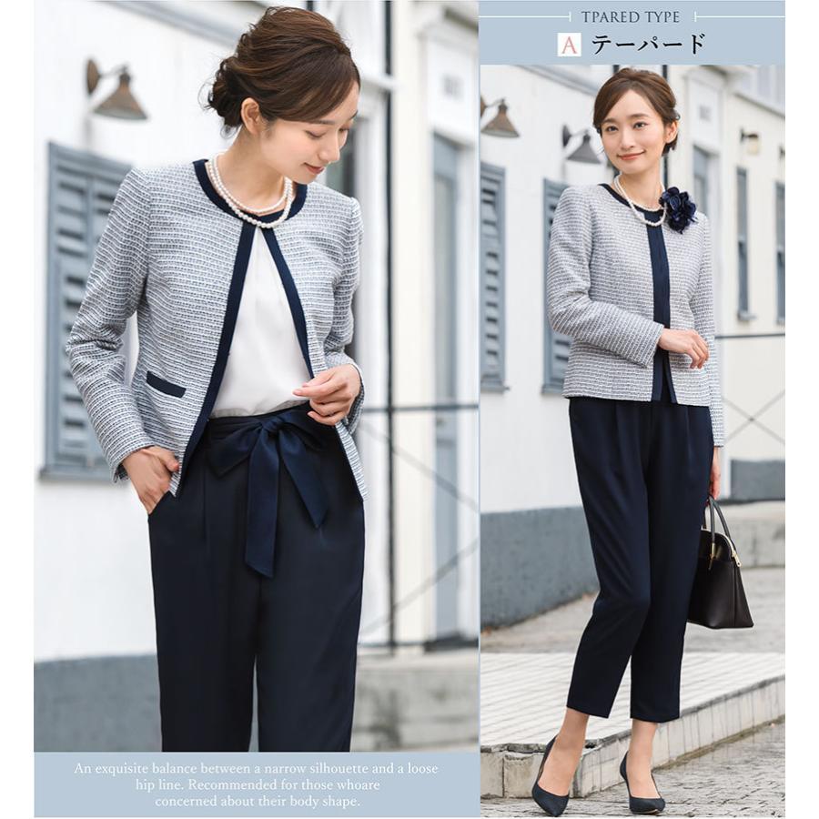 スーツ 卒業式 レディース 入学式 服装 ママ パンツスーツ 30代 40代 セレモニースーツ ワンピース 3点セット 大きいサイズ セットアップ|sutekitaiken|10