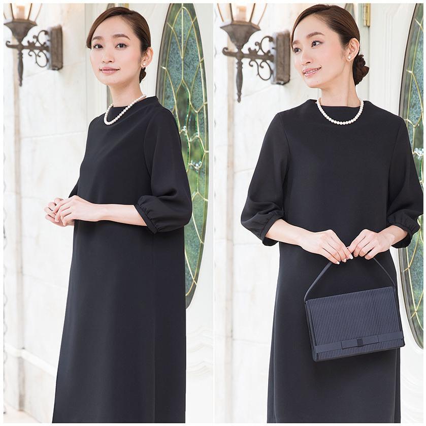 喪服 レディース 洗える ワンピース ブラック フォーマル 礼服 日本製生地 サマー 七分袖 長袖 20代 30代 40代 50代 大きいサイズ 小さいサイズ|sutekitaiken|15