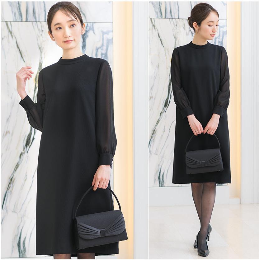 喪服 レディース 洗える ワンピース ブラック フォーマル 礼服 日本製生地 サマー 七分袖 長袖 20代 30代 40代 50代 大きいサイズ 小さいサイズ|sutekitaiken|17