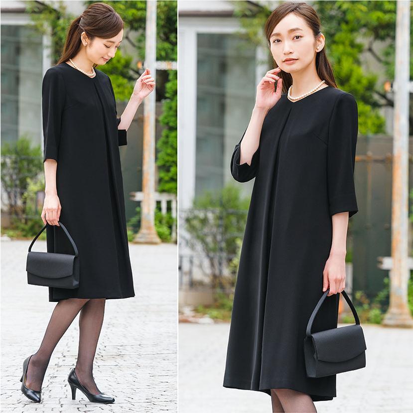 喪服 レディース 洗える ワンピース ブラック フォーマル 礼服 日本製生地 サマー 七分袖 長袖 20代 30代 40代 50代 大きいサイズ 小さいサイズ|sutekitaiken|19