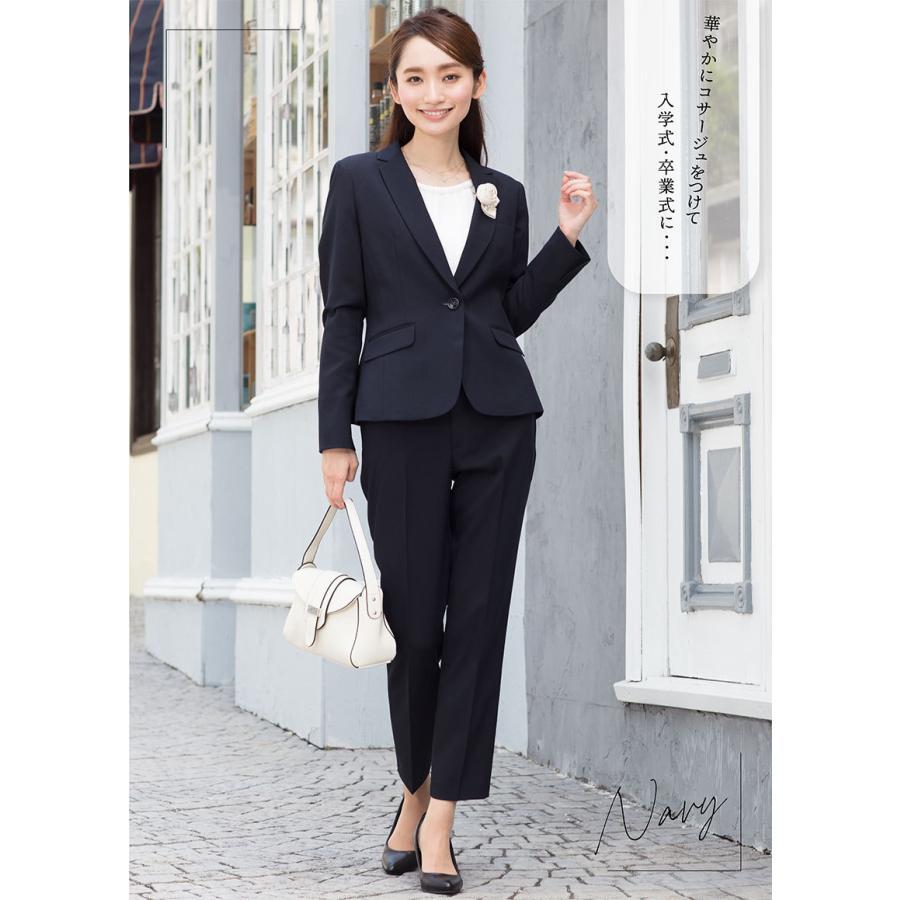 スーツ レディース パンツスーツ ビジネス リクルート ビジネス OL テーラード フルレングス丈 ストレッチ 女性 面接 大きいサイズ 小さいサイズ sutekitaiken 18