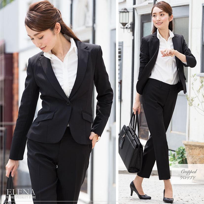 スーツ レディース パンツスーツ ビジネス リクルート ビジネス OL テーラード フルレングス丈 ストレッチ 女性 面接 大きいサイズ 小さいサイズ sutekitaiken 07