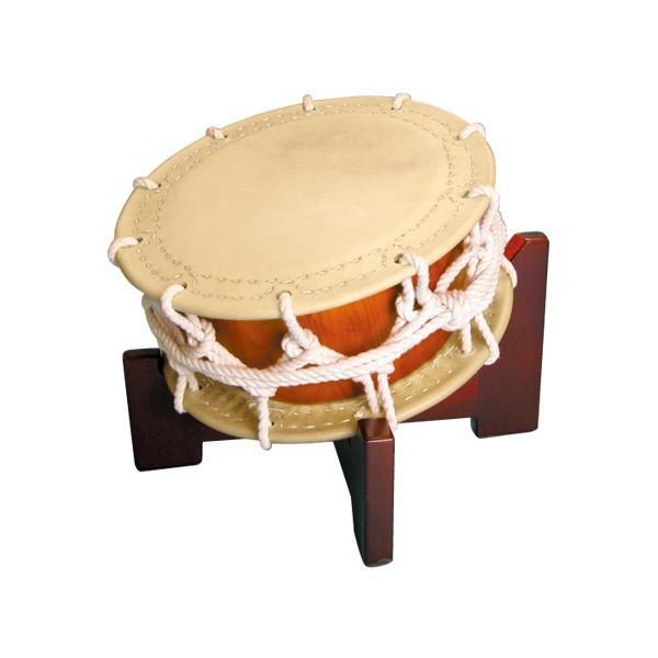 締太鼓35cm(ひも締め・あわせ胴) 木製座り台座セ... - 諏訪工芸