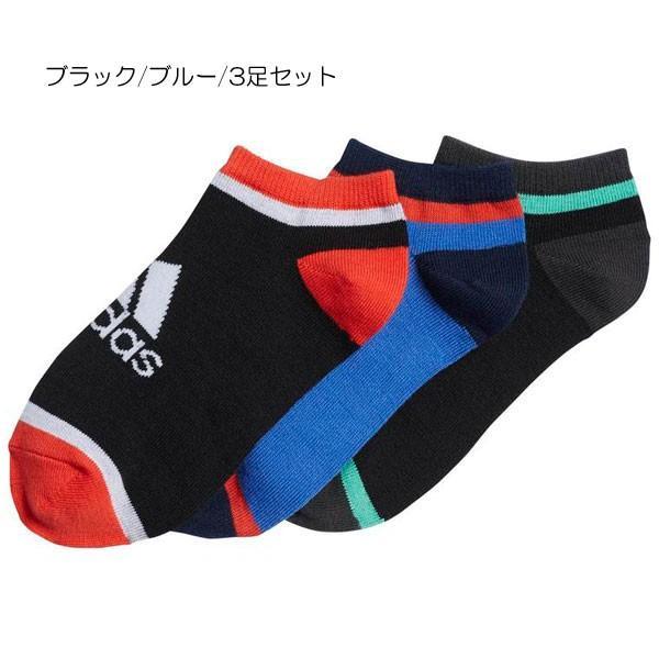 28af2e108154d1 adidas アディダス キッズ くつ下 3P アンクルソックス 19-21cm 21-23cm ...