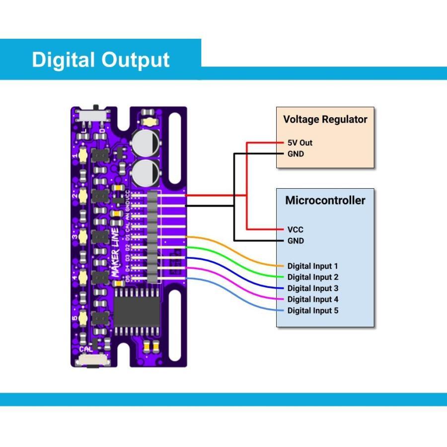 Cytron Maker Line: 初心者向けシンプルラインセンサ suzakulab 05