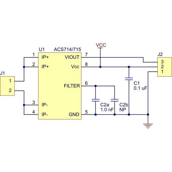 Pololu ACS714電流センサ -30A-+30A suzakulab 04