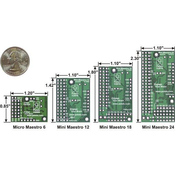 Pololu Mini Maestro 12チャンネル USBサーボコントローラ (組立済み) suzakulab 03