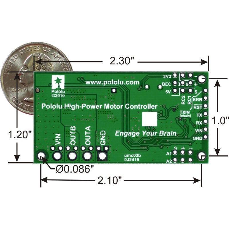 Pololu シンプルモータコントローラ 18v7 (実装済み)|suzakulab|04
