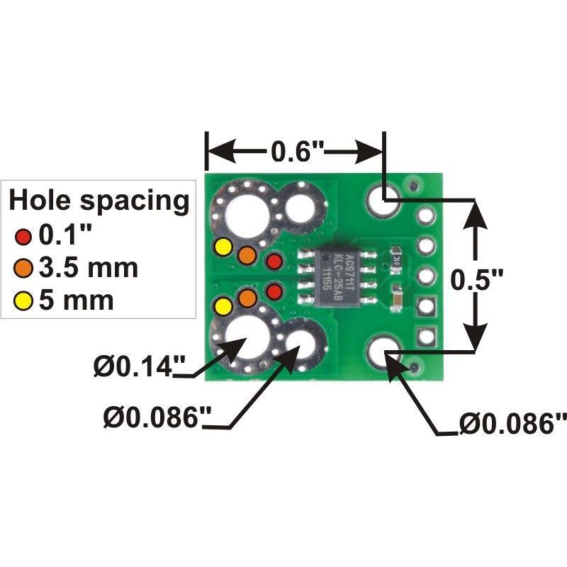 Pololu ACS711LC 電流センサ -25A-+25A suzakulab 03