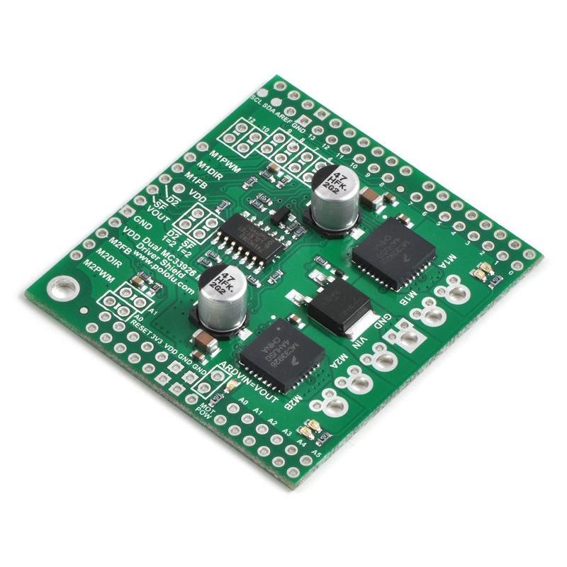 Pololu デュアルMC33926モータドライバ Arduinoシールド suzakulab