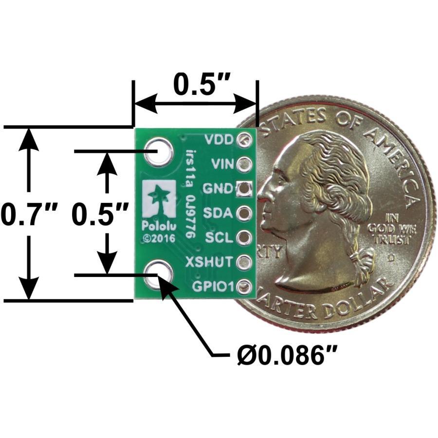 Pololu Time of Flight光学測距モジュール(最大4m) VL53L1X 定電圧レギュレータ付き|suzakulab|03