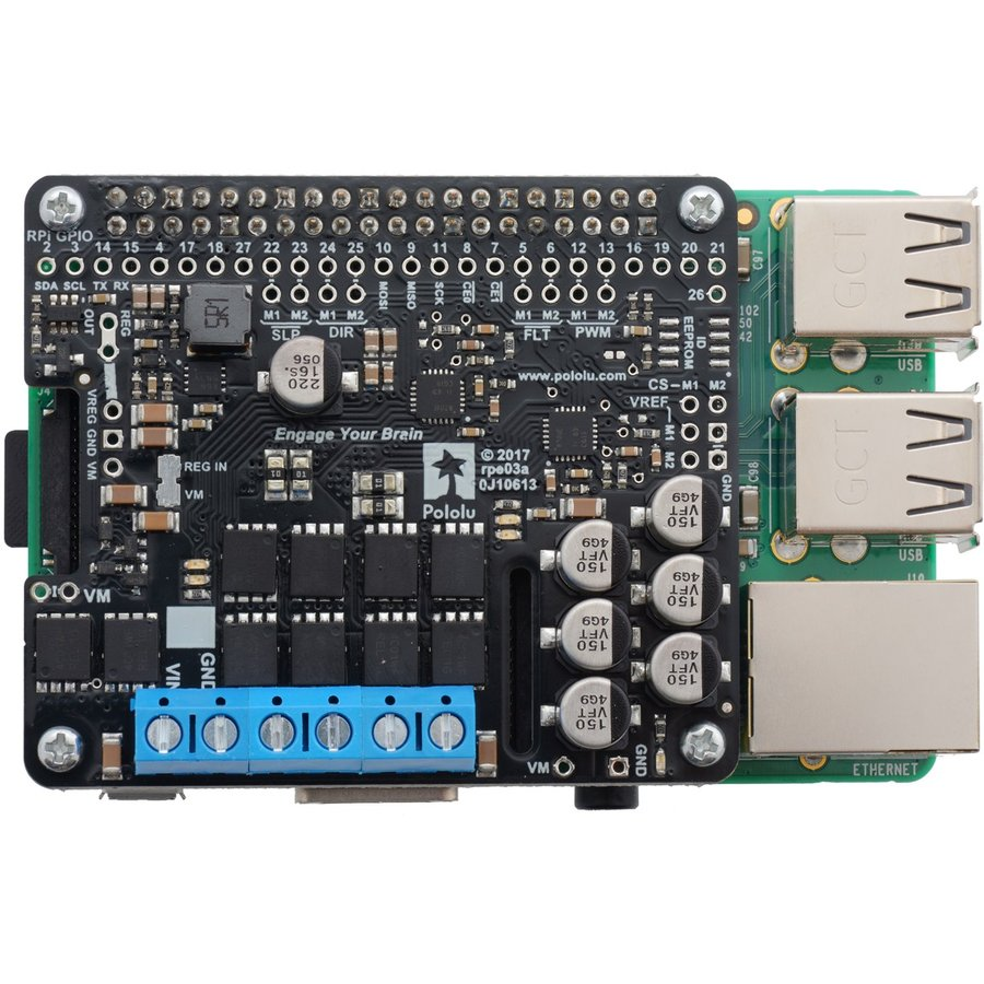 Pololu Raspberry Pi対応デュアルG2ハイパワーモータドライバ 18v22 (パーツキット)|suzakulab|08