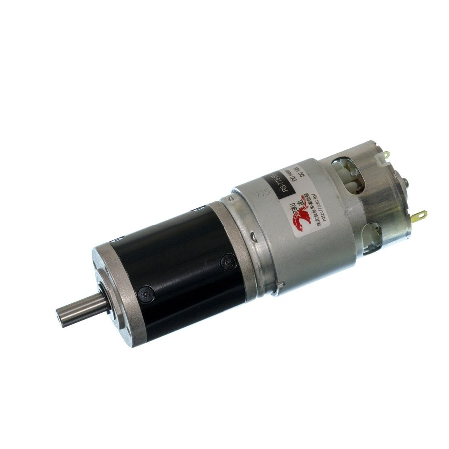 小型DCギヤードモータ RS-775GM212-METAL-R 丸軸・初段金属ギヤ仕様