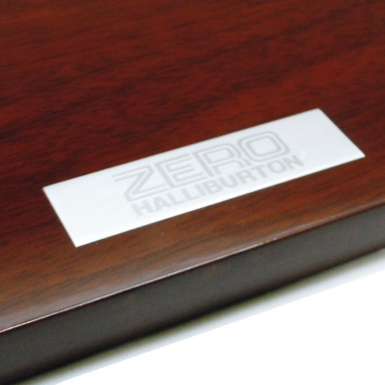 販促 ZERO HALLIBURTON ゼロハリバートン 木製ディスプレイ台座 艶あり THO 事務所 SHOPに suzion-line 04