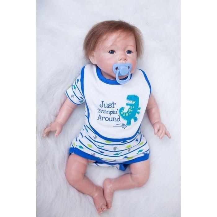 リボーンドール リアル赤ちゃん人形 かわいいベビー人形 ハンドメイド海外ドール ブルーアイ あどけない男の子 乳児ちゃん