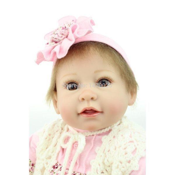 リボーンドール リアル赤ちゃん人形 かわいいベビー人形 ハンドメイド 衣装と哺乳瓶・おしゃぶり付き ブルーorブラウンアイ