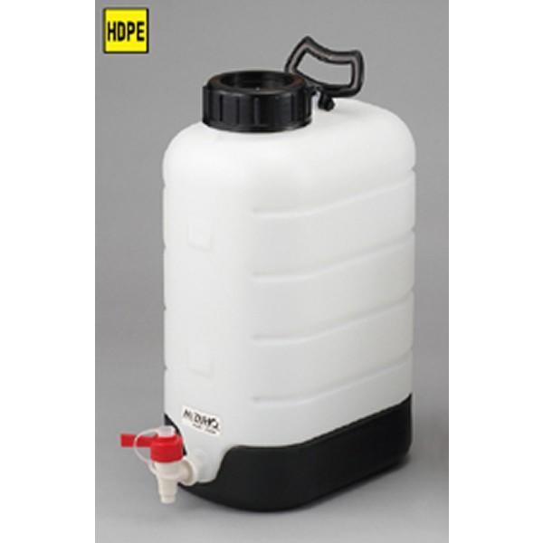 純水貯蔵瓶 20L 230x318x525mm ポリエチレン PP製 ポリタンク