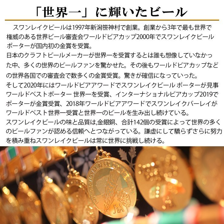 ビール クラフトビール 金賞ビール&地酒(NOBU)3本セット 本州 送料無料 ご贈答用 包装熨斗 craft bee|swanlakebeer|08
