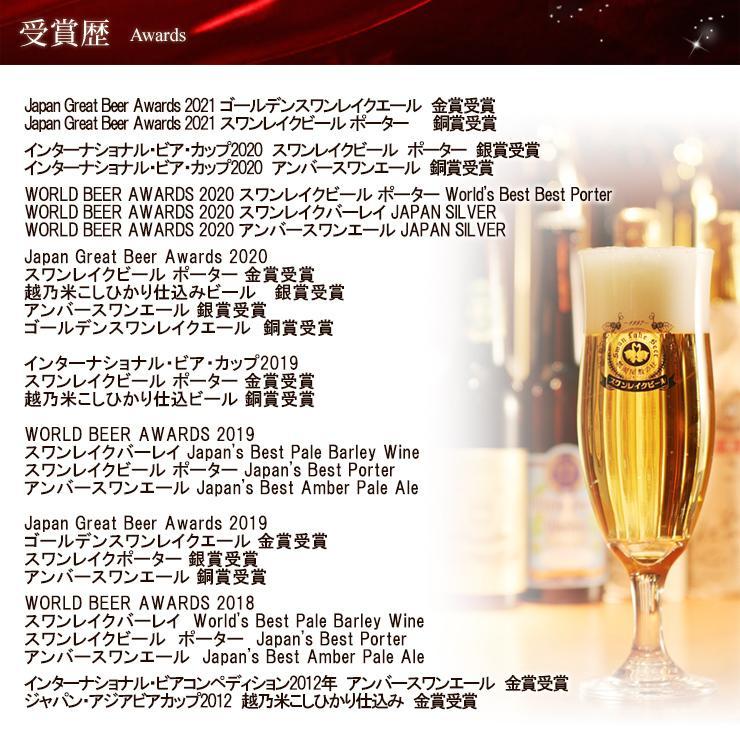 ビール クラフトビール 金賞ビール&地酒(NOBU)3本セット 本州 送料無料 ご贈答用 包装熨斗 craft bee|swanlakebeer|10