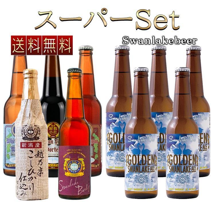 春ギフト クラフトビール ビール 地ビール スワンレイクバーレイ WORLD BEER AWARDS 2018 世界一World's Best 受賞記念 スーパーセッ10本  本州 送料無料|swanlakebeer
