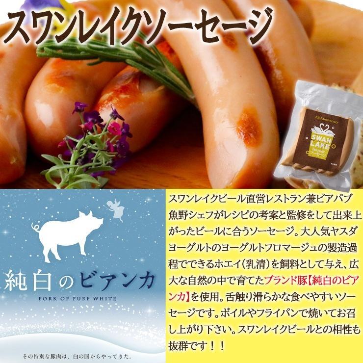 ビール クラフトビール 世界一金賞受賞 スワンレイクビール 飲み比べ6本 B-IPA入り スワンレイクソーセージ 詰め合わせ 地ビール 本州 送料無料|swanlakebeer|03