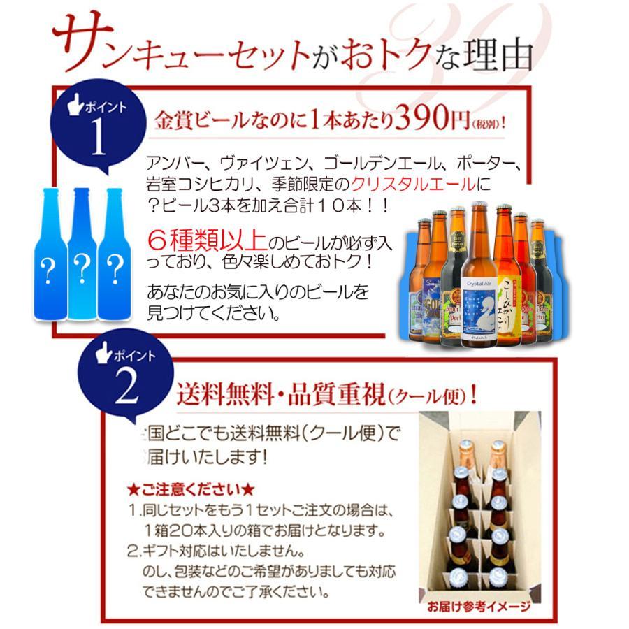 ビール クラフトビール 世界一受賞ビール飲み比べ 限定ビール入り 10本詰め合わせ 【新緑】 サンキューセット B-IPA ミエルブラン 地ビール 送料無料 swanlakebeer 03
