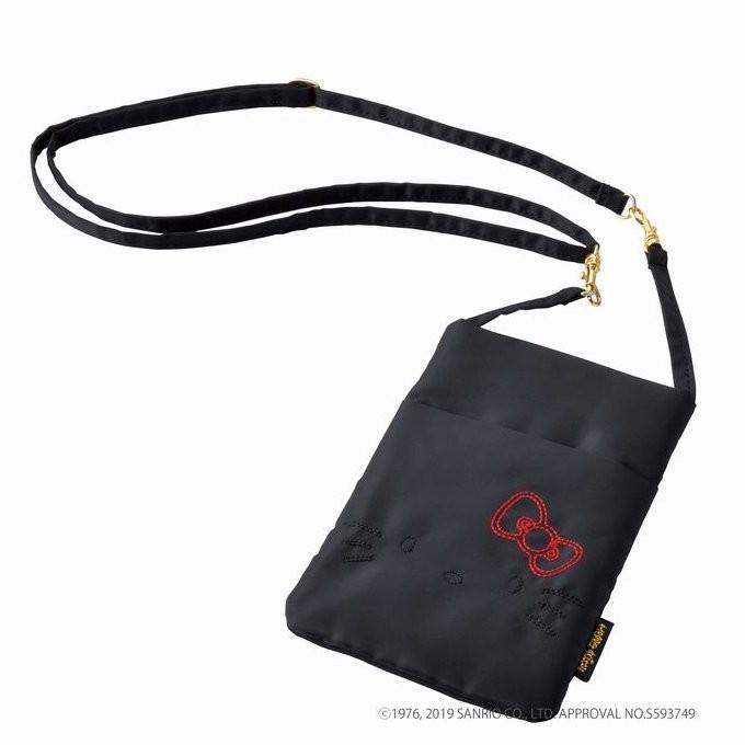 スワニー Hello 信託 Kitty コラボモデル A-356 3wayポーチ S レッドリボン 鞄 アクセサリー 商い カバン SWANY バッグ