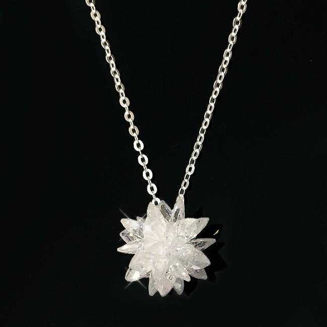 ネックレス スワロフスキー ペンダント レディース フラワー 水晶 花 クリスタル 人気 シルバー925 xm|swasuwa|02