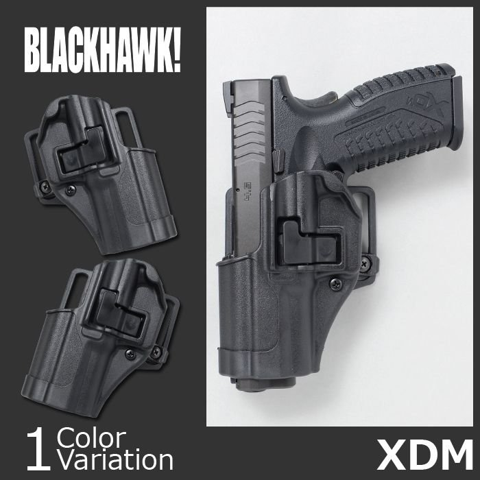 黒 HAWK!(ブラックホーク)SERPA CQC CONCEALMENT HOLSTER Springfield XD用(セルパ コンシールメント ホルスター) 410507