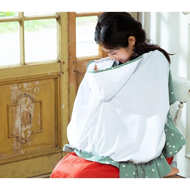 【在庫限り】授乳ケープ 3WAY マルチ UVカット率99.9% マタニティ 授乳服 マタニティ 服 授乳カバー ベビーカー カバー 抱っこ紐 カバー ケープ|sweet-mommy|08